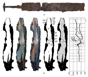 metalographic research of the blade