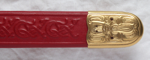 Sword - detail of scabbard chape